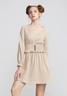 Smocking waist dress with puff sleeves