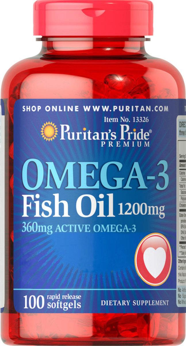 奧米加3 魚油丸 1200 毫克 (含360毫克活性奧米加3) 100粒 [有效日期1/21]