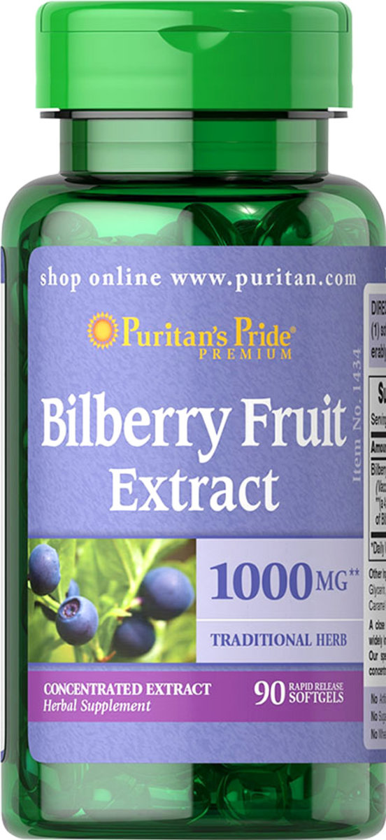Bilberry Fruit Extract 250mg (EXP:3/20)