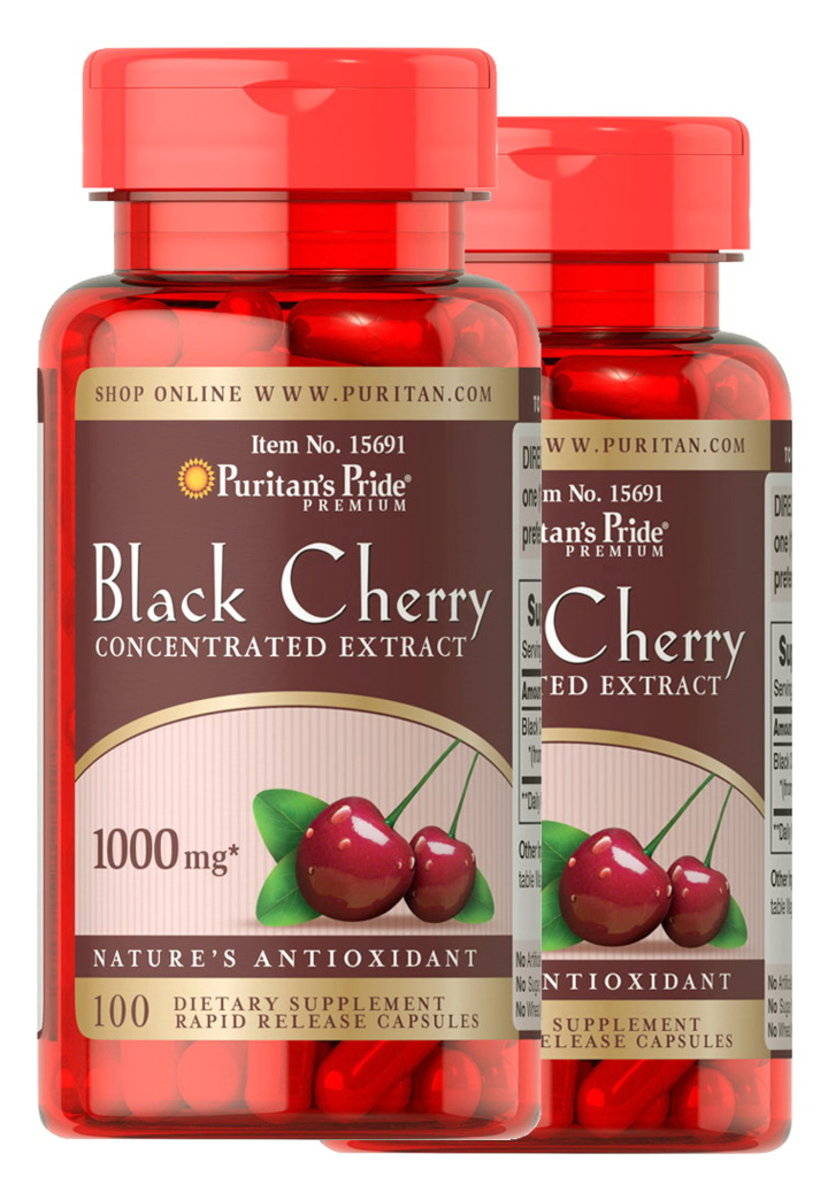 2 x Black Cherry Concentrated Extract 1000 mg 100s (EXP:10/20+2/21)