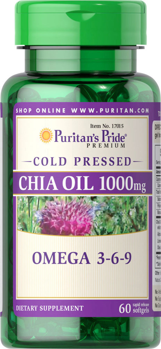 Cold Pressed Chia Oil 1000 mg (Omega-3-6-9) 60s (EXP:11/19)