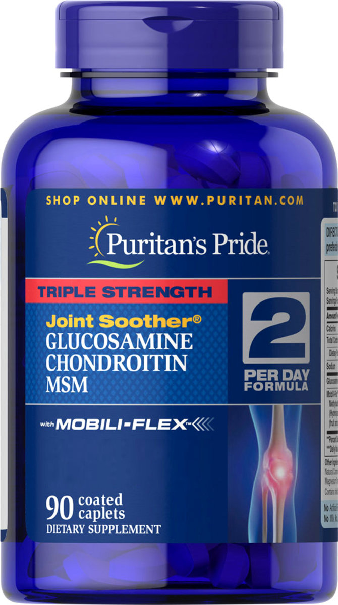 Triple Strength Glucosamine, Chondroitin & MSM Joint Soother® 90s (EXP:4/20)
