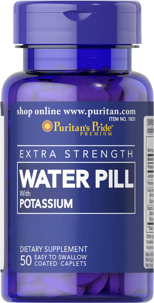Extra Strength Water Pill™ with Potassium 50s Water Pill™ (EXP:12/19)