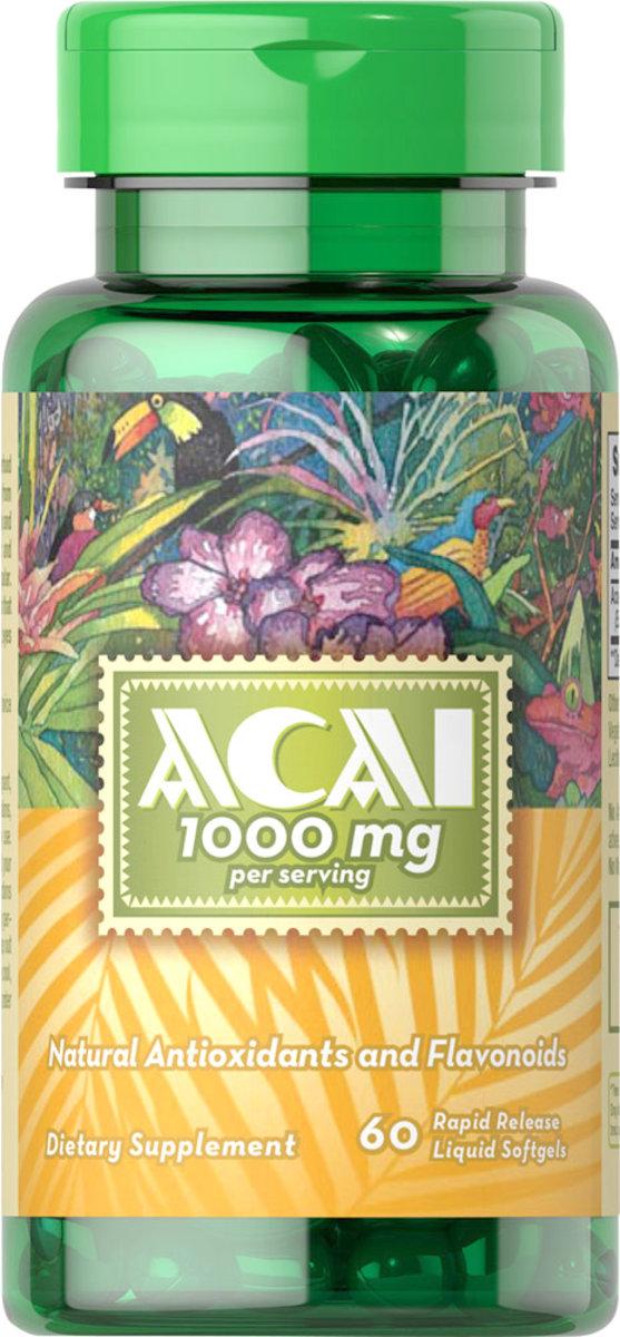 巴西莓 1,000 毫克 60粒 [有效日期 10/2020]