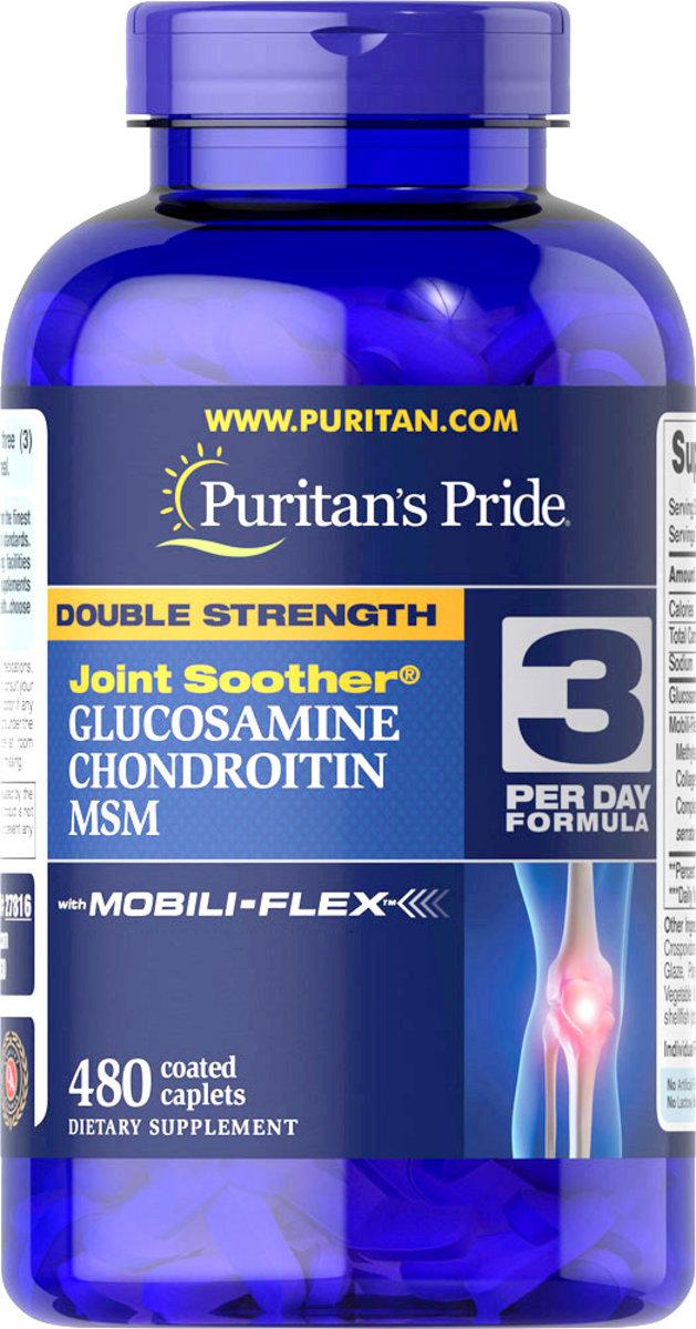 雙倍強效葡萄糖胺、軟骨素、MSM配方 480粒 [有效日期 5/2020]
