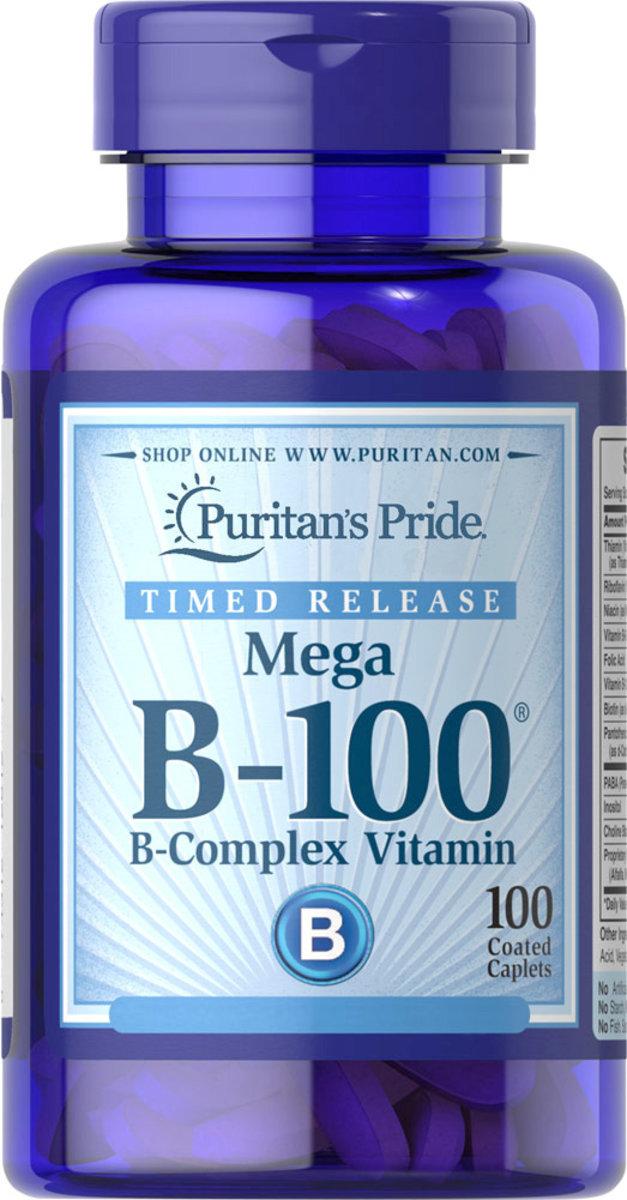 Timed release Mega B-100 B-complex Vitamin 100s (EXP:12/19)