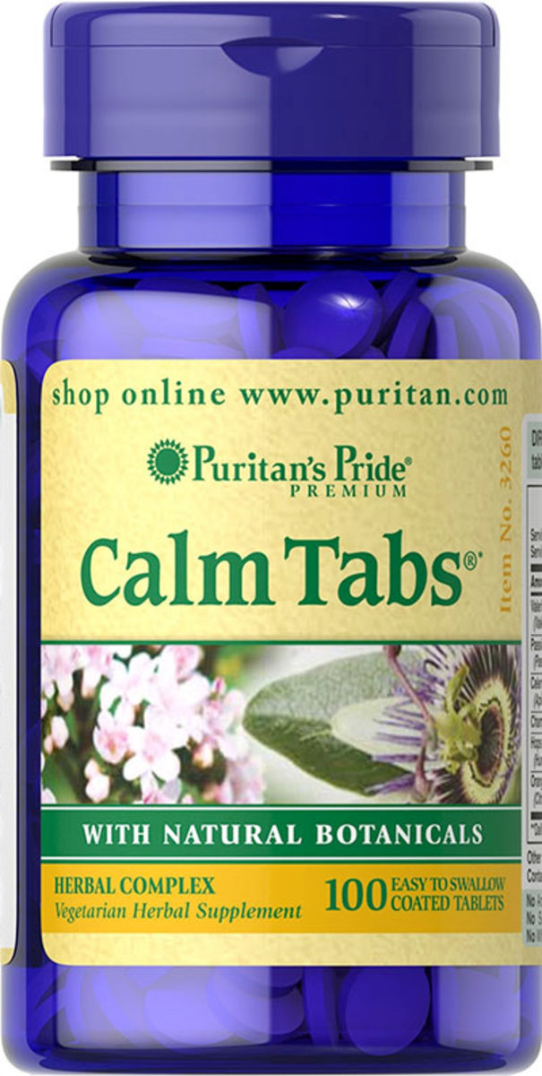 Calm Tabs® with Valerian, Passion Flower, Hops, Chamomile 100s (EXP:9/19)