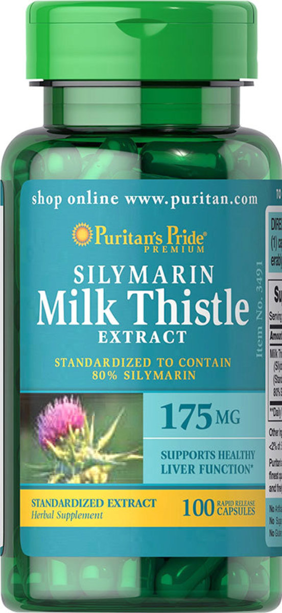 Milk Thistle Standardized Extract 175 mg (Silymarin)100s (EXP 3/21)