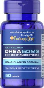 Puritan's Pride DHEA(脫氫表雄酮) 50毫克 50粒 [此日期前最佳 (月/年)10/21]