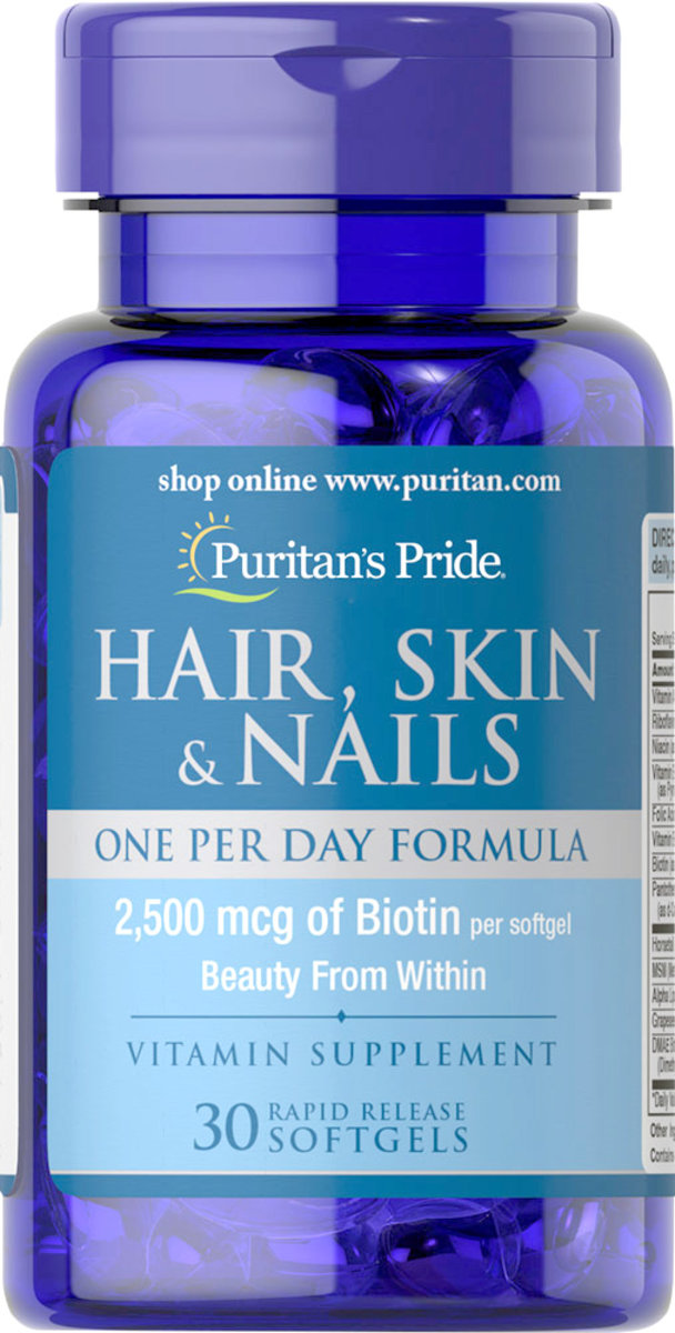 Hair, Skin & Nails 2,500mcg of Biotin 30s (EXP:11/19)
