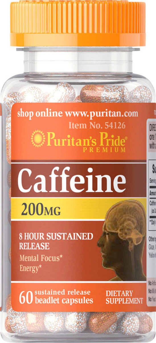 Caffeine 200 mg (8 hour sustained release) 60s [EXP 2/21]