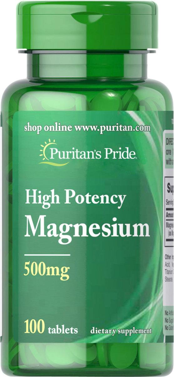 High Potency Magnesium 500 mg 100s (EXP:4/20)