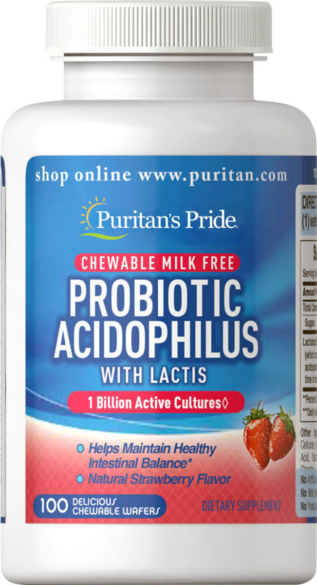 Probiotic Acidophilus Chewables Strawberry [EXP DATE 11/20]