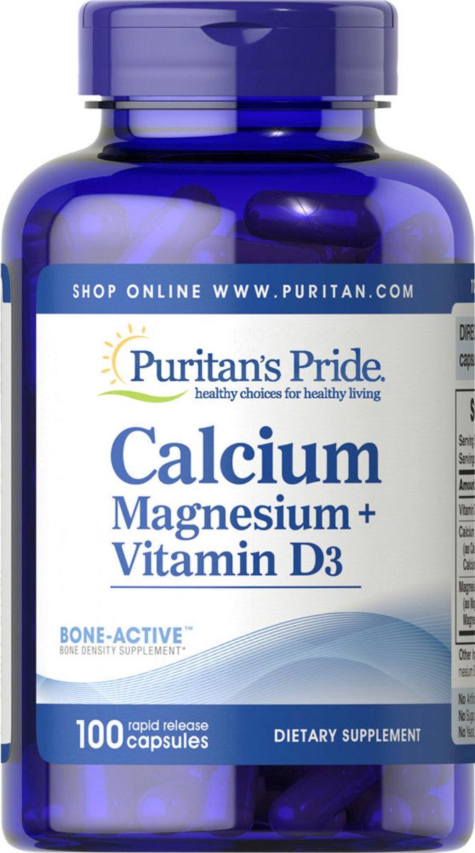 Calcium, Magnesium + Vitamin D3 100s (EXP:4/21)