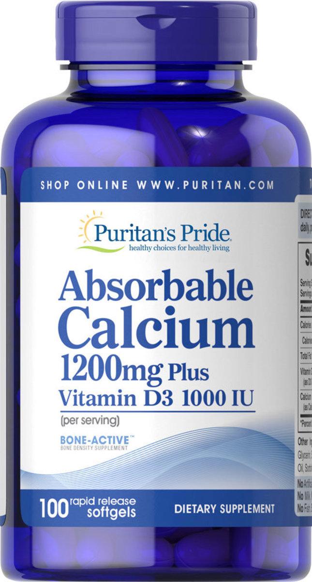 鈣1,200毫克及維他命D 1,000 IU配方(容易吸收型) 100粒 [有效日期 3/21]