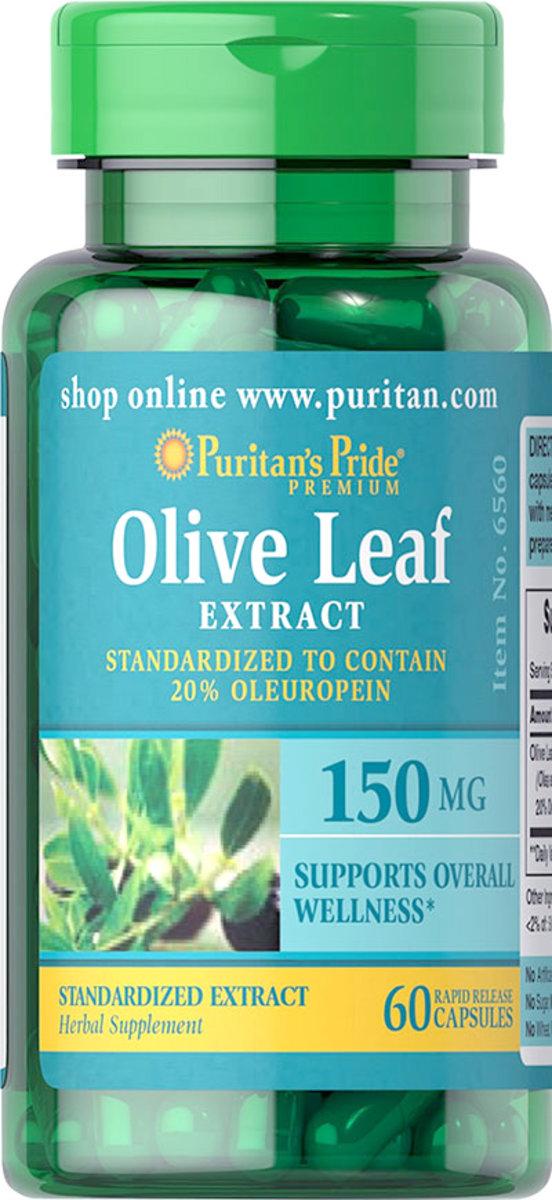 橄欖葉標準化提取物150毫克 (標準化含20%橄欖苦苷) 60粒 [有效日期 9/20]