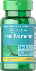 Puritan's Pride 鋸棕櫚標準化提取物160毫克 60粒 [此日期前最佳(月/年) 12/21]