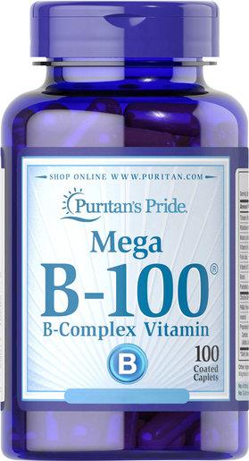Mega B-100 綜合維他命B配方100粒 (EXP date: 3/2020)