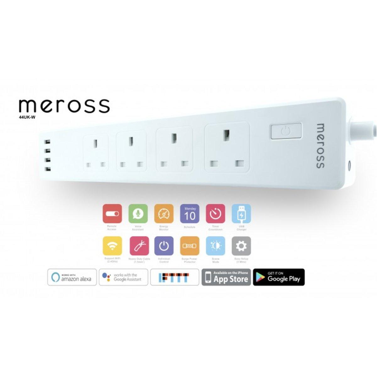 智能家居 — WiFi 智能定時遙控拖板 alexa google 語音控制 4插座 適合家長使用