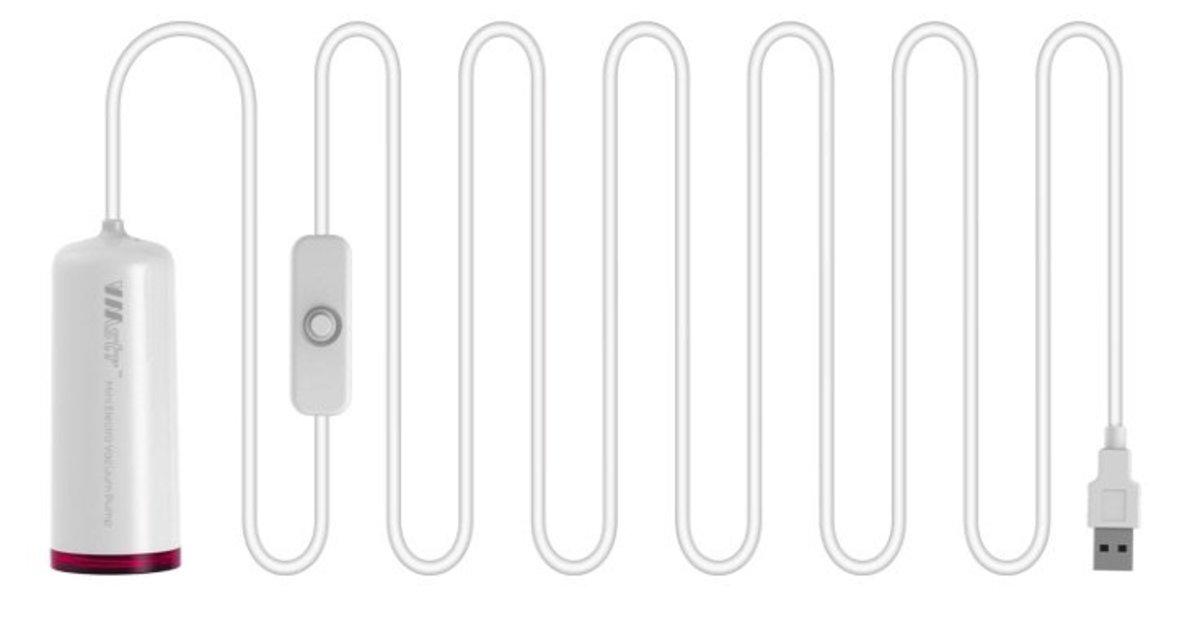 迷你抽真空機 (白色)|附送收納袋一個|強勁吸力 快速收納 靜音電機 防塵防潮