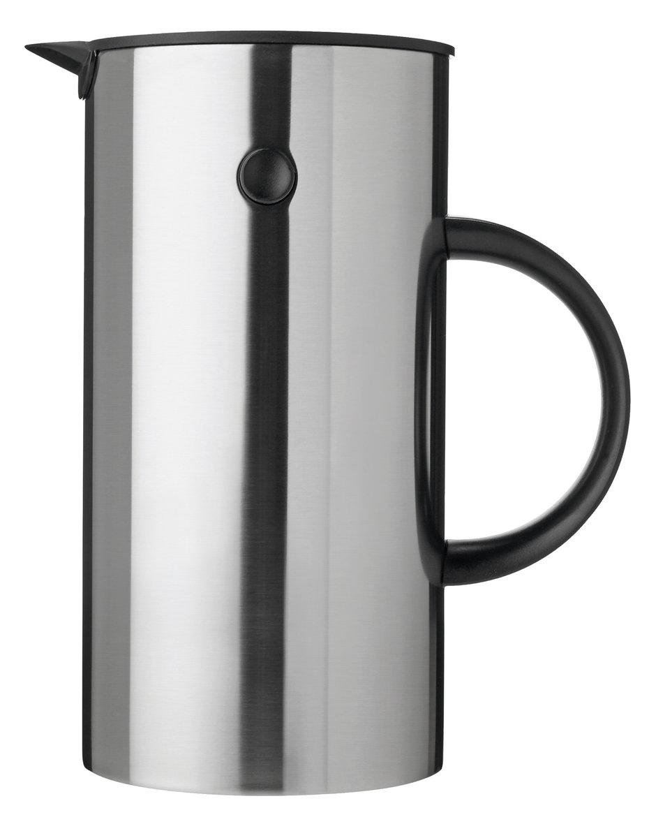 EM77咖啡壺(1升), 不銹鋼- 咖啡壺法式濾壓壺1L