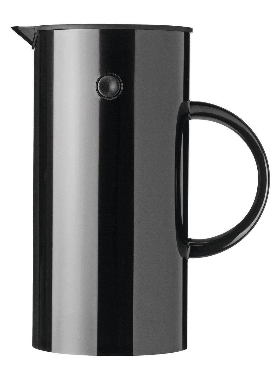 EM77咖啡壺(1升), 黑色- 咖啡壺法式濾壓壺1L