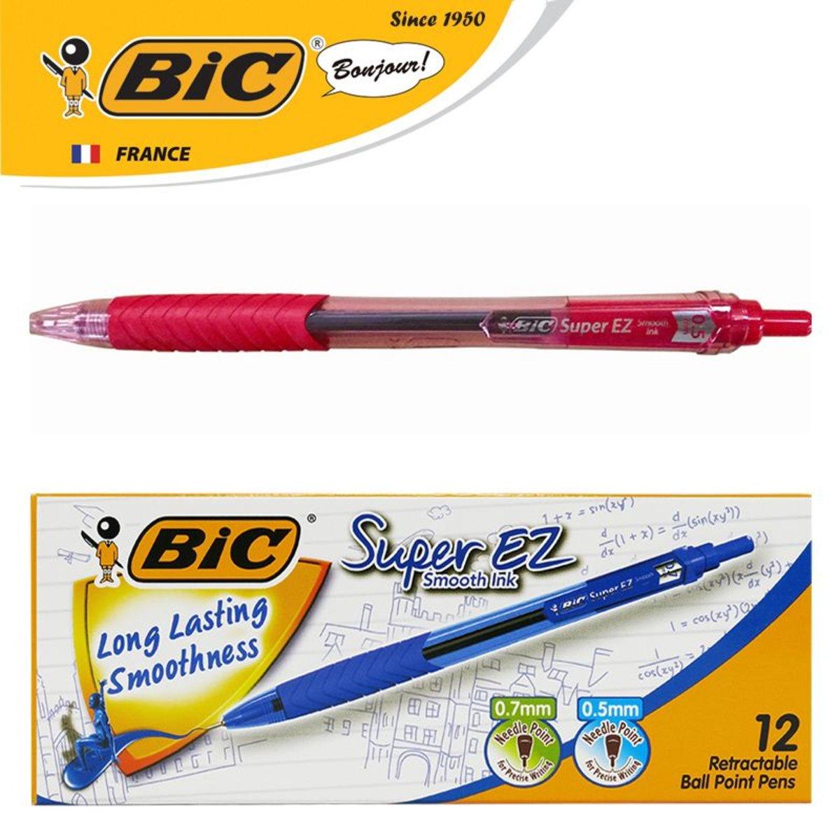 Super EZ RT 0.5mm Ball Pen – Red   12 pcs/box