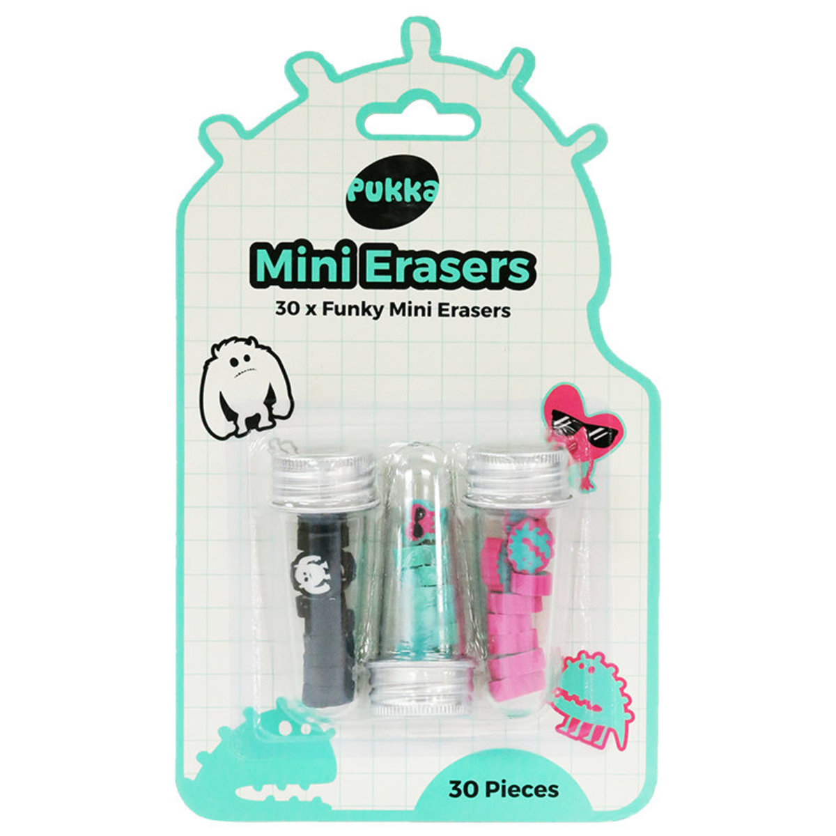 Tween Mini Erasers In A Tube (Pack of 2)
