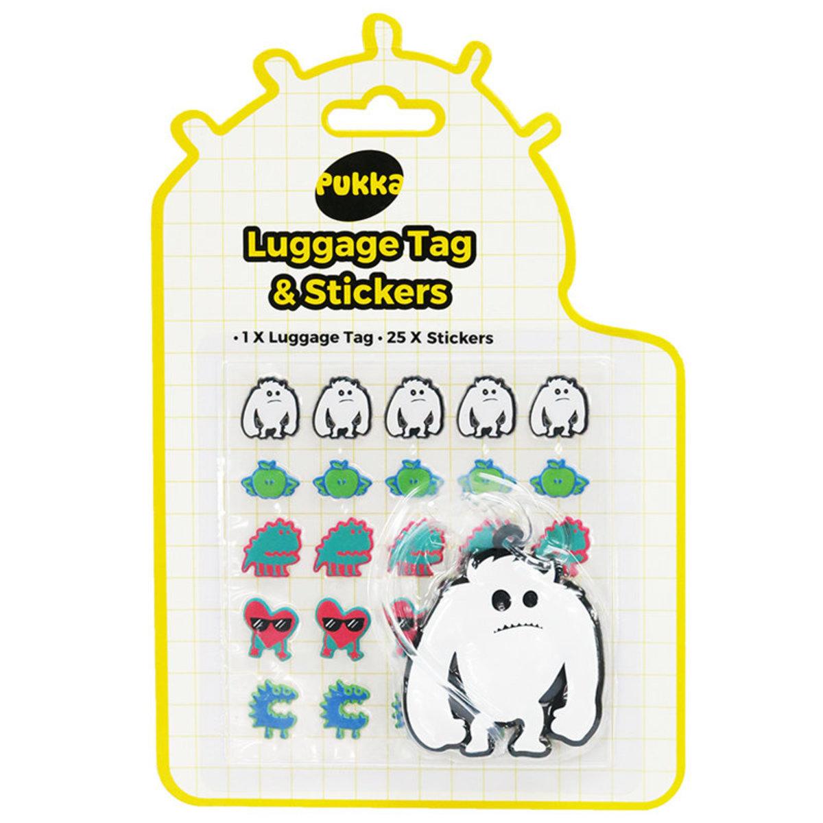 Pukka Tween Luggage Tag & Stickers (Pack of 2)