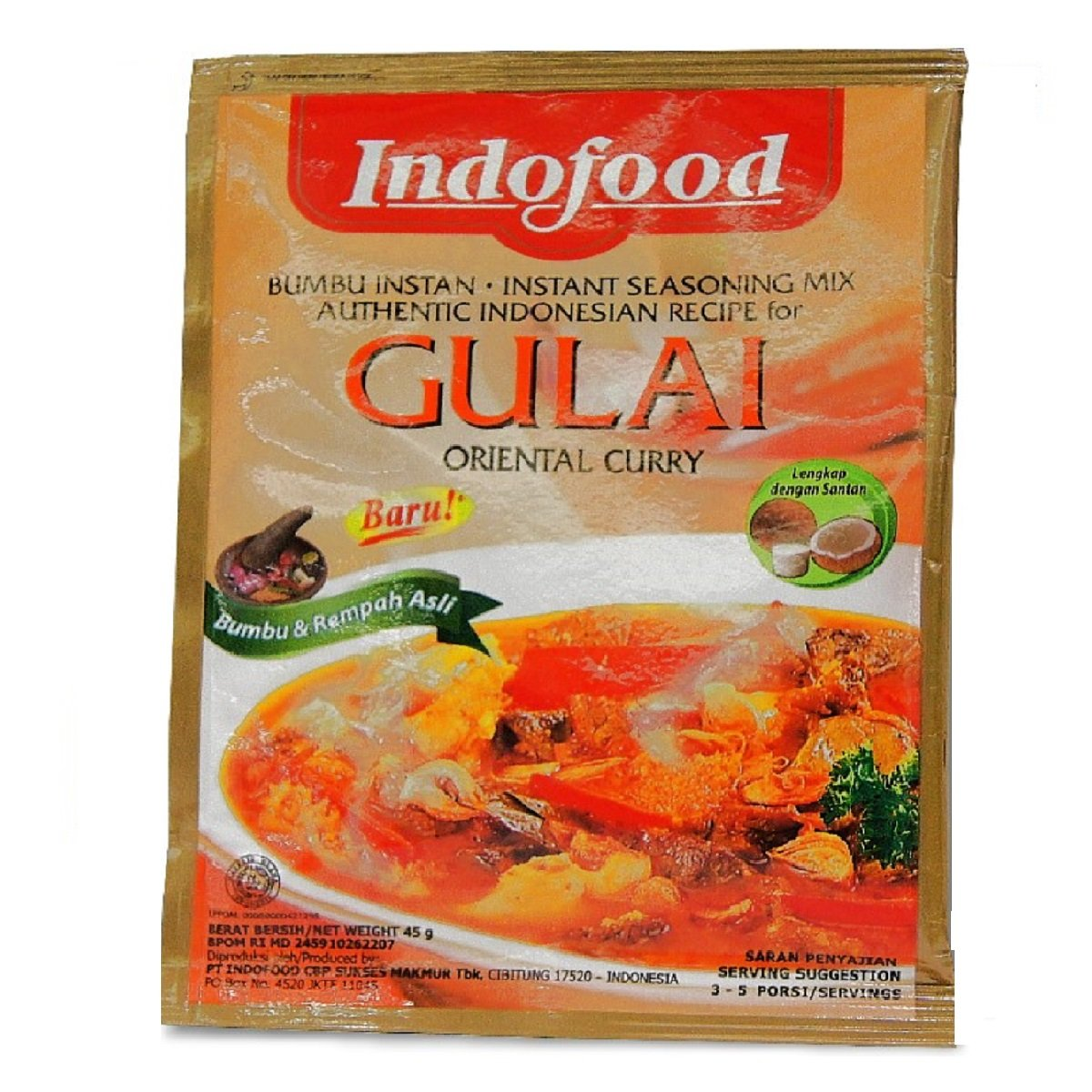 INDOFOOD INSTANT SEASONING GULAI (BOX)