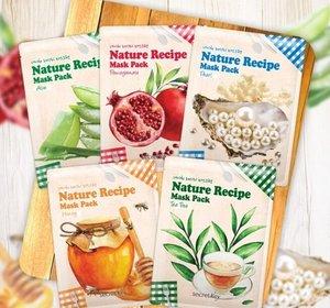 天然配方面膜 隨機1片(蜂蜜,珍珠,蜂蜜香蕉,茶樹,石榴,蘆薈)
