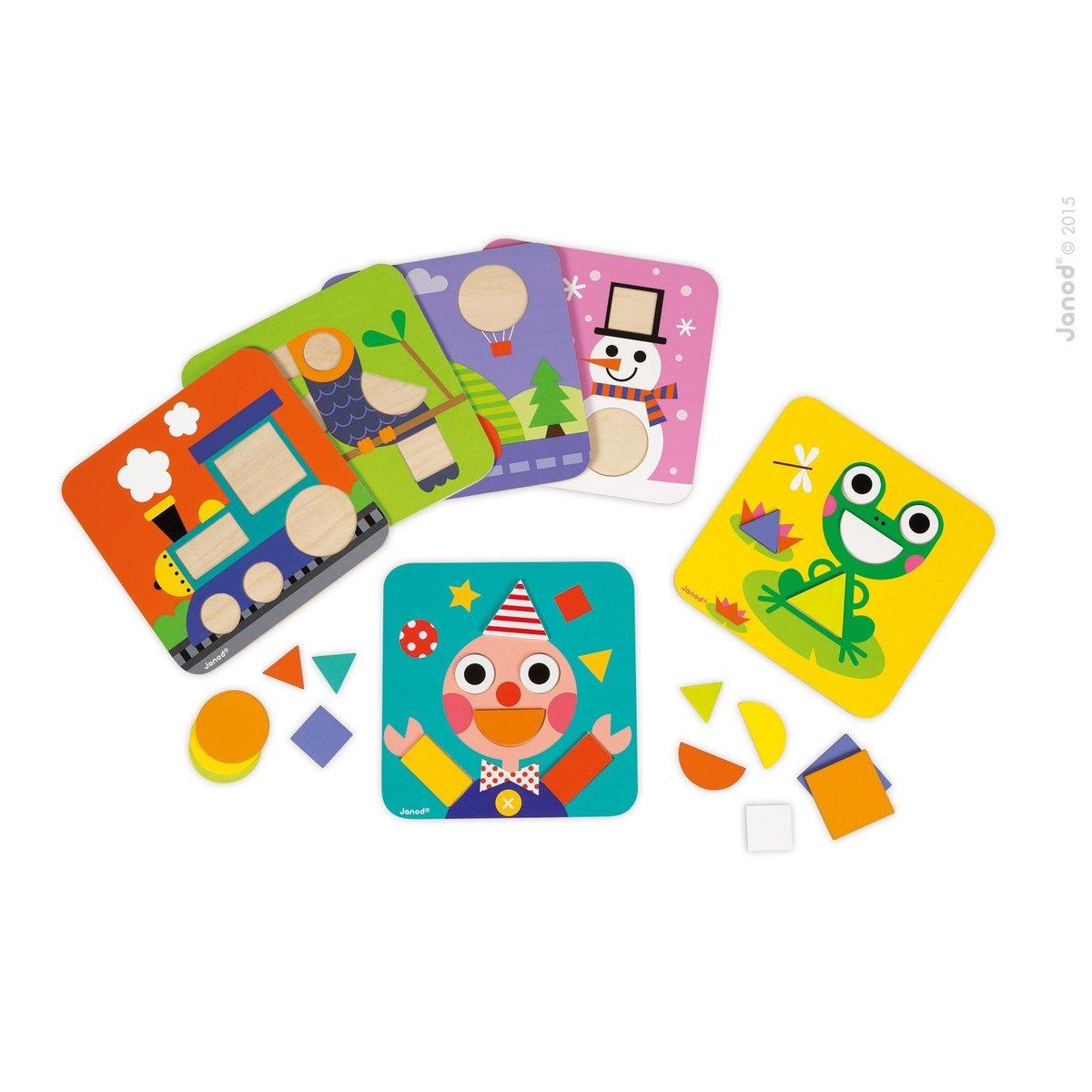 形狀配對拼圖板 - 認知學習 - 幼稚園面試玩具