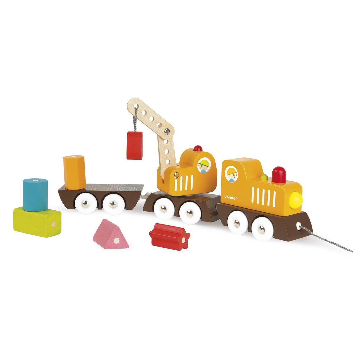 Multi Colors Crane Train