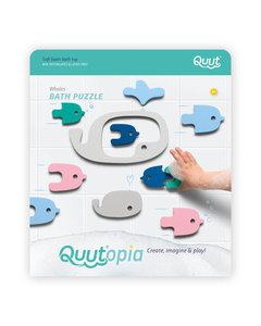 Quut Quutopia 洗澡拼貼玩具 – 鯨魚 – 比利時沖涼玩具