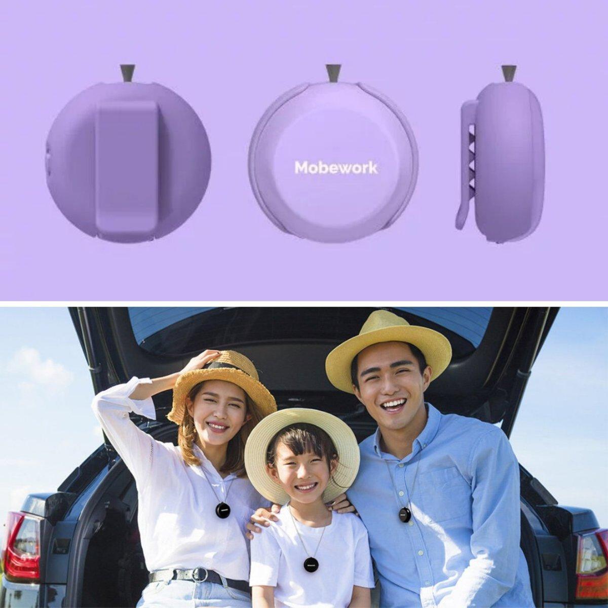負離子隨身空氣淨化器 V2 (升級版) - 紫色