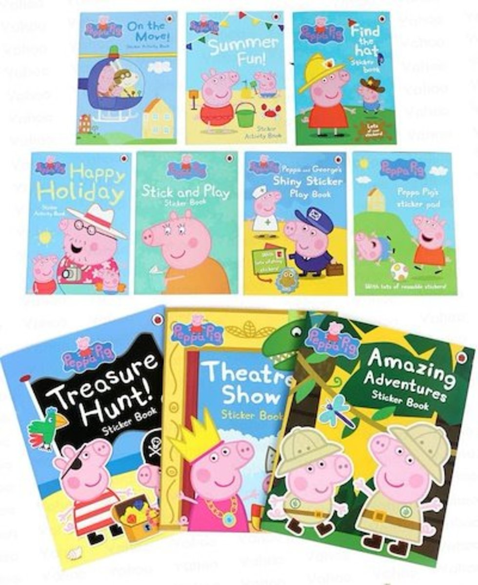 Children Stickers Story Books 10 sets|Parallel Imports