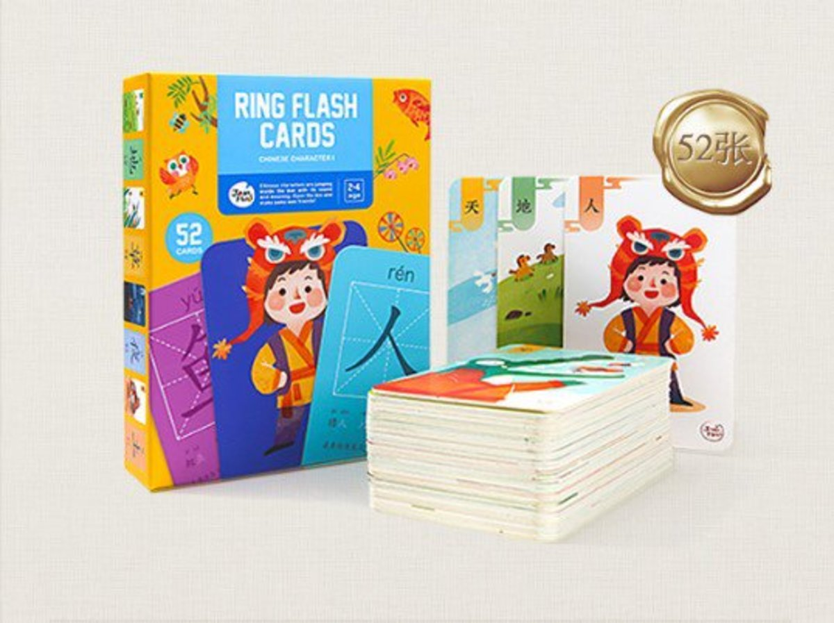 Children's Literacy Card 1 Early Learning Cognitive Card 52pcs