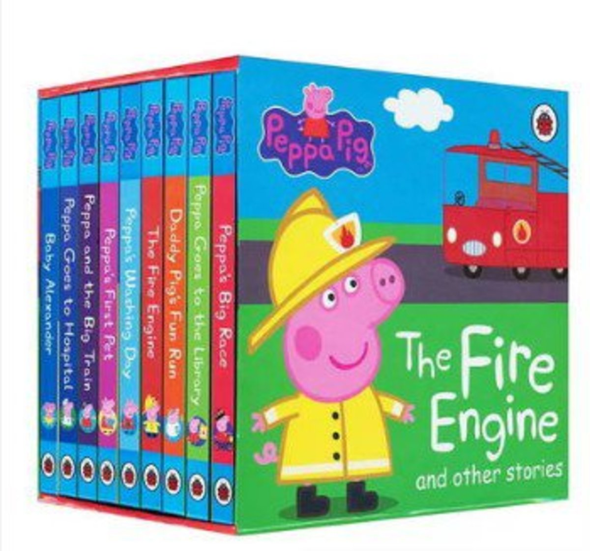 The Fire Engine and other Stories|English original story boxed 9 cardboard books|Parallel Imports