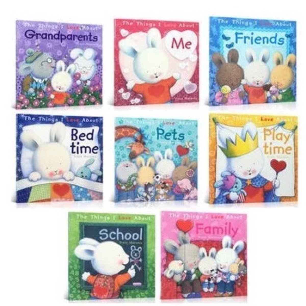 """Hairy Rabbit Growth Picture Book """"My Favorite"""" Series The Things I Love About (8 books)"""