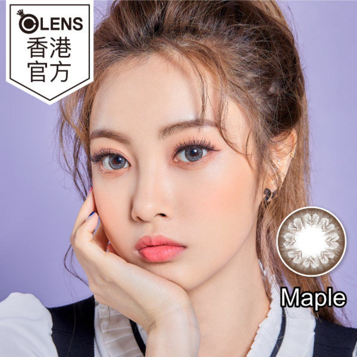 MAPLE GRAY 1-2 MONTHS COLORED CONTACT LENS (1PC)