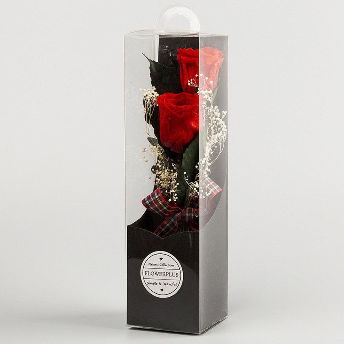 Le' Lamor Rose 情人節 小型永生花掛盒家居擺設 掛牆裝飾 (紅色)