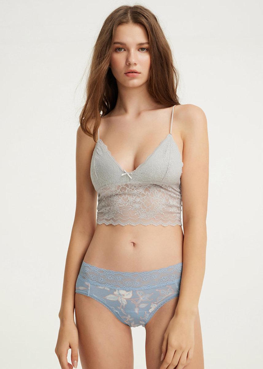 Bliss.Women Mid Rise Cotton Lace Waist Menstrual Brief Panty
