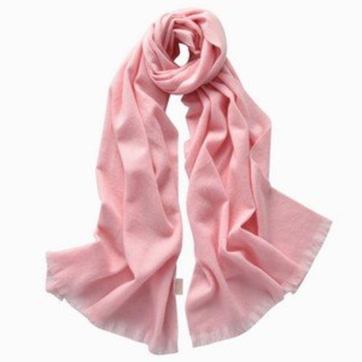 100% Cashmere Scarves (Pink)