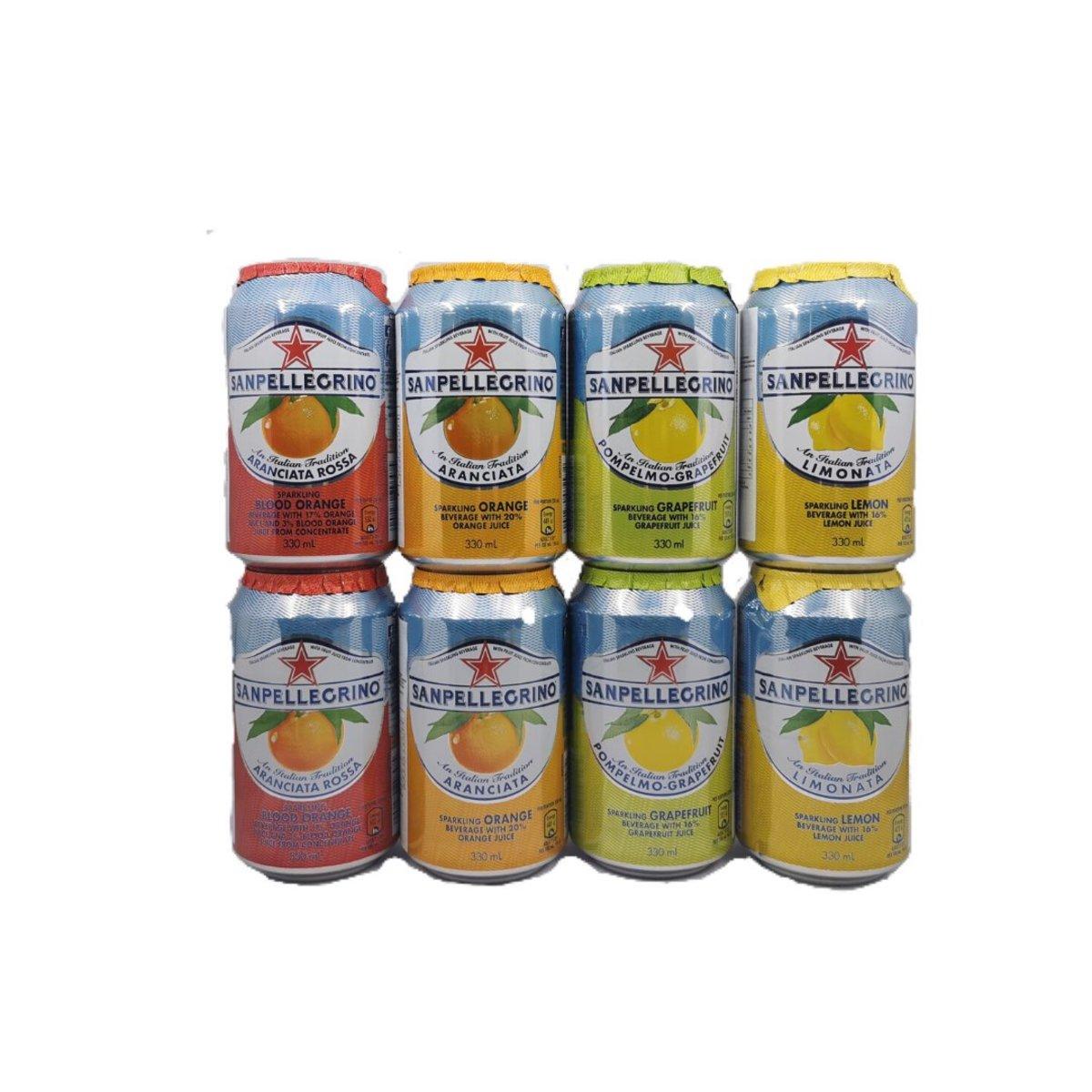 Sparkling 8 cans-Blood Orange,Orange,Lemon,Grapefruit (2 of each)