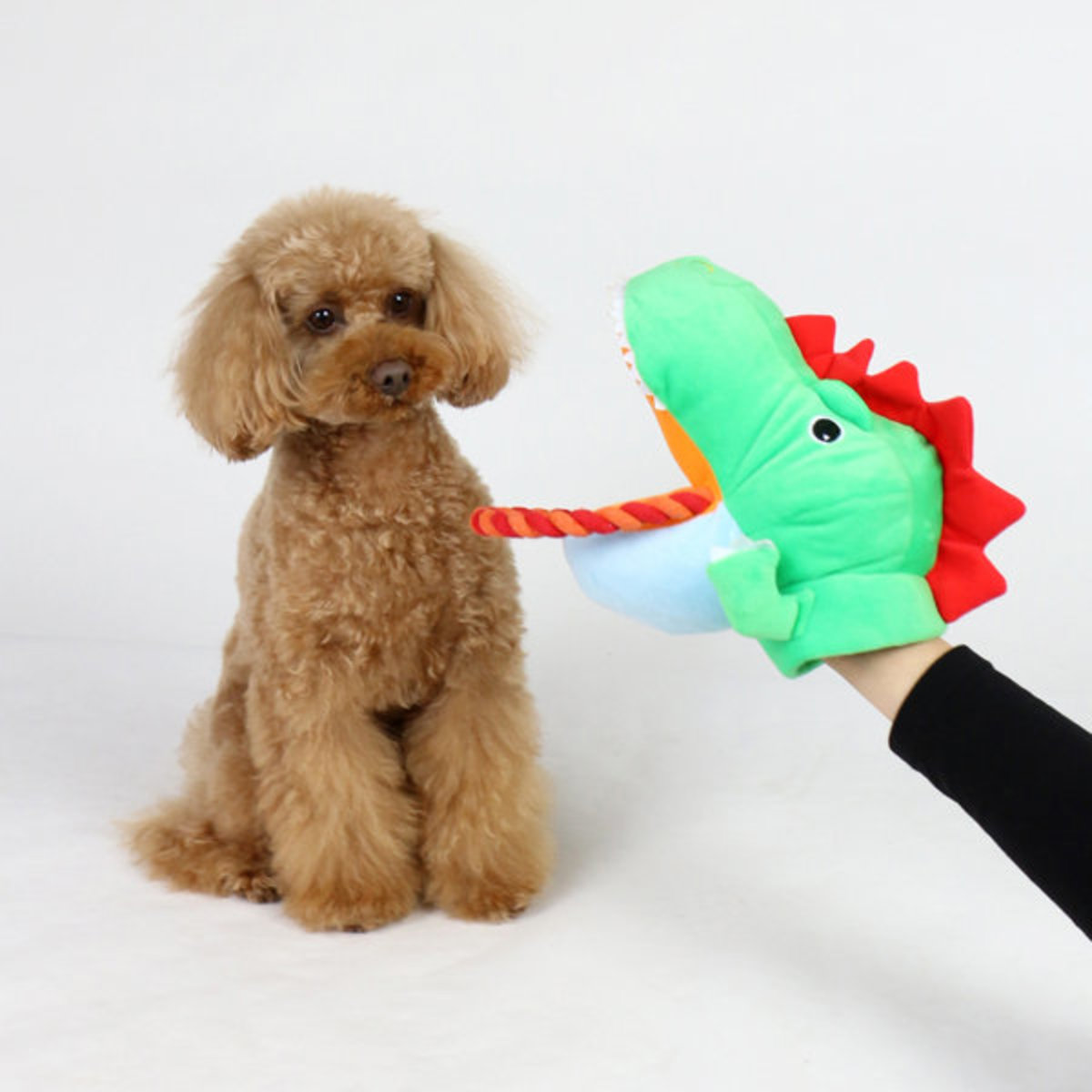 Dinosaur shaped Pet toy Hand Puppet