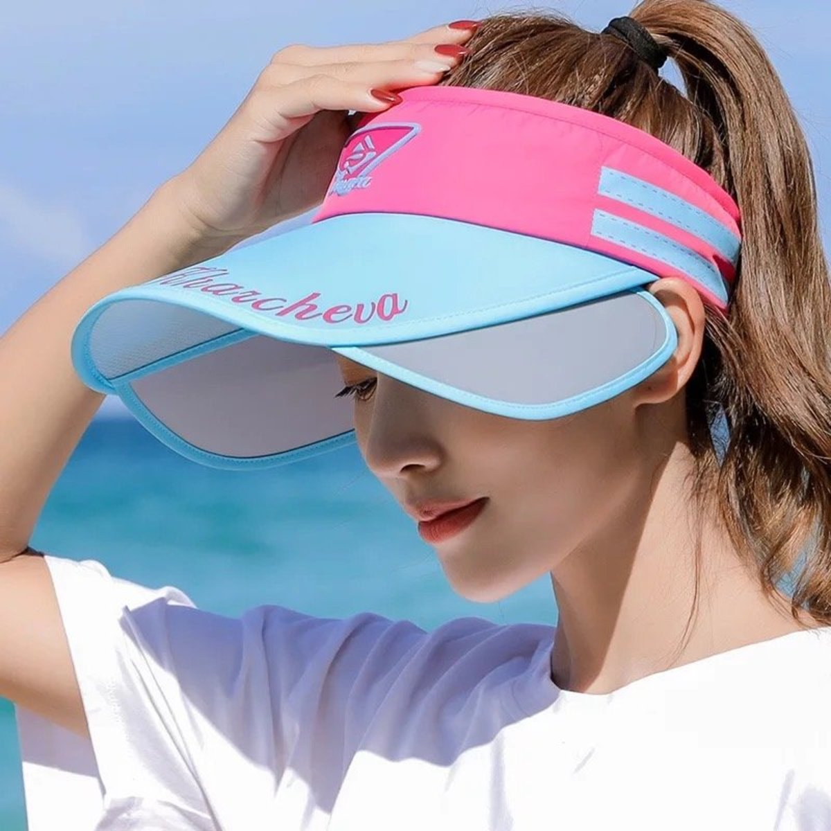 Sun protection: Beach Tennis Hat - Blue