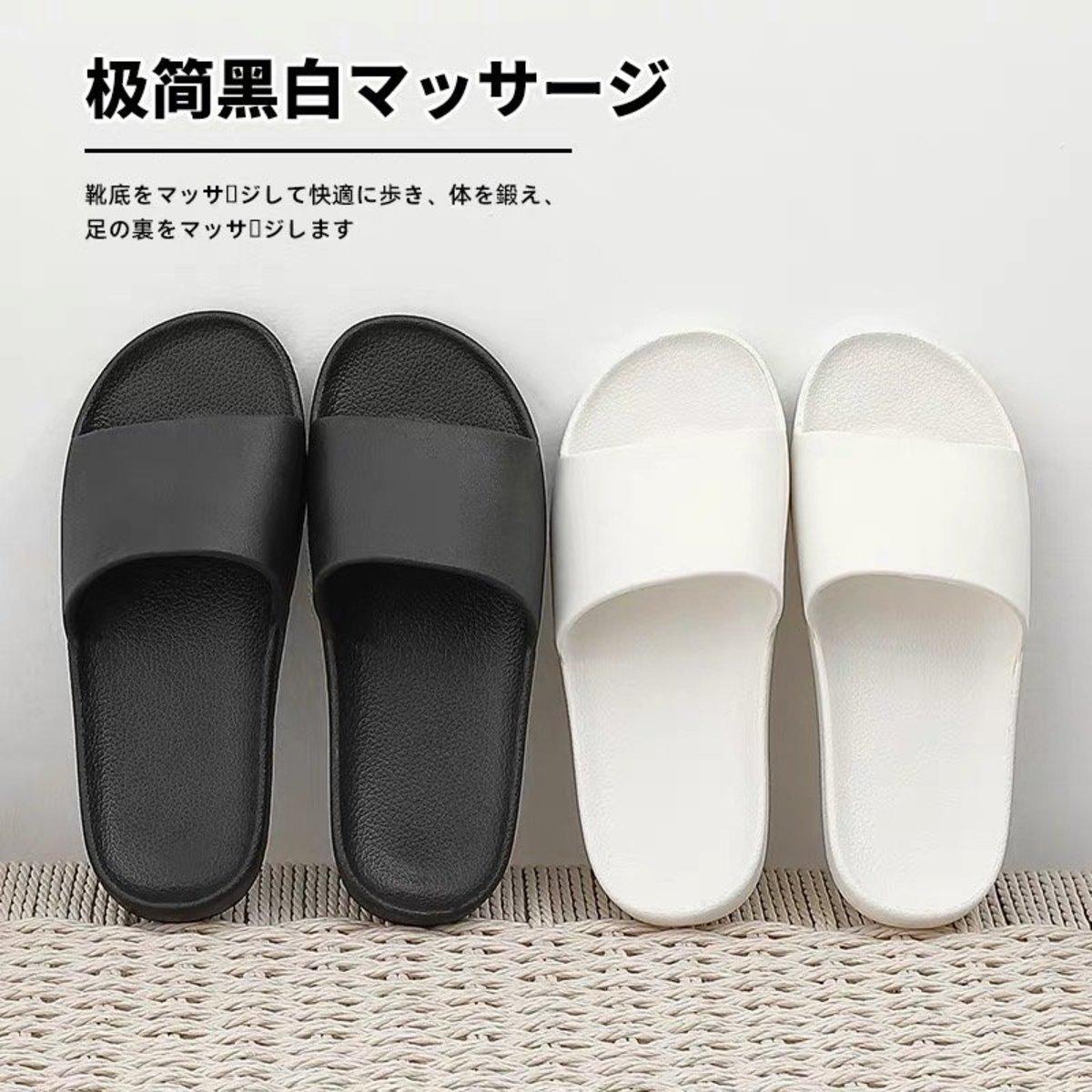 日式優質輕巧防滑膠拖鞋 情侣裝各一對