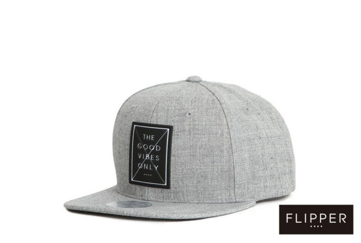棒球帽 _THE GOOD VIBE ONLY 印章 (灰色)