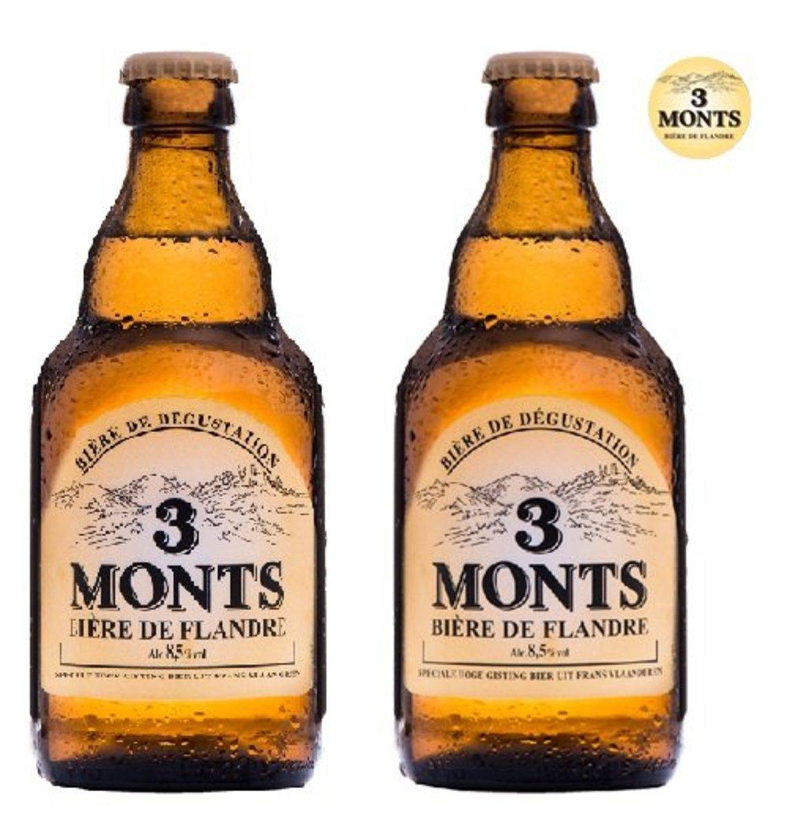 3 MONTS [法國制造手工啤] 原味麥啤- 330mL [2支套裝]