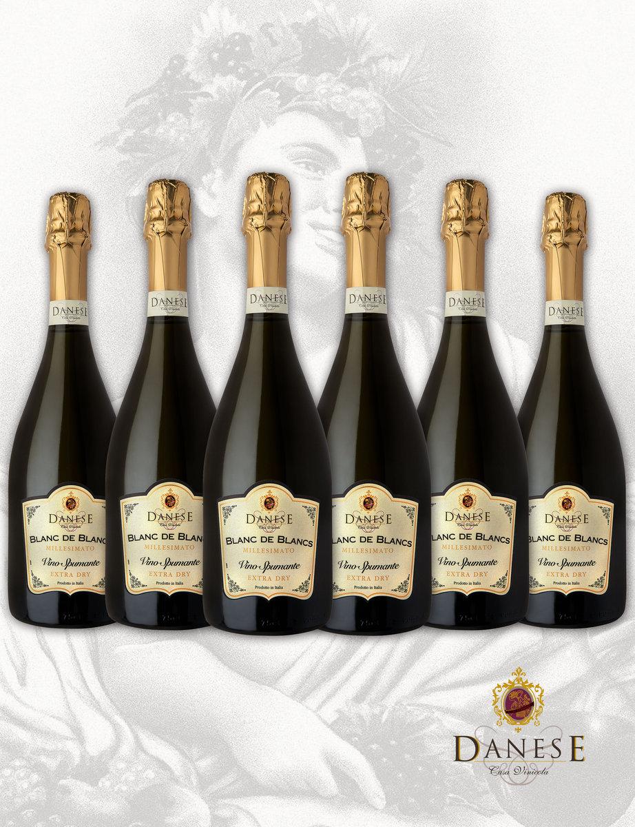 Average $130 - BLANC DE BLANCS MILLESIMATO -  (6 Bottles Pack)